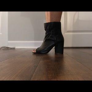 Splendid Open Toe Leather Booties